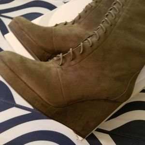 Olive green boots